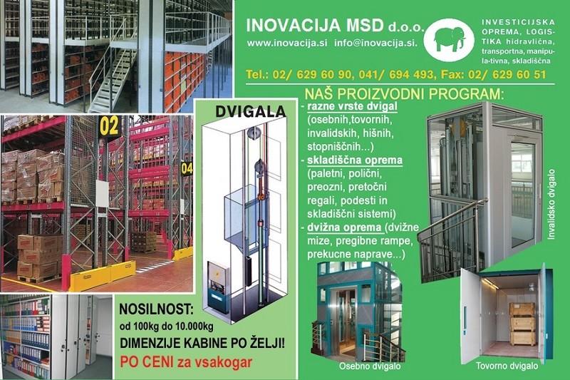 Proizvodni program podjetja Inovacija MSD